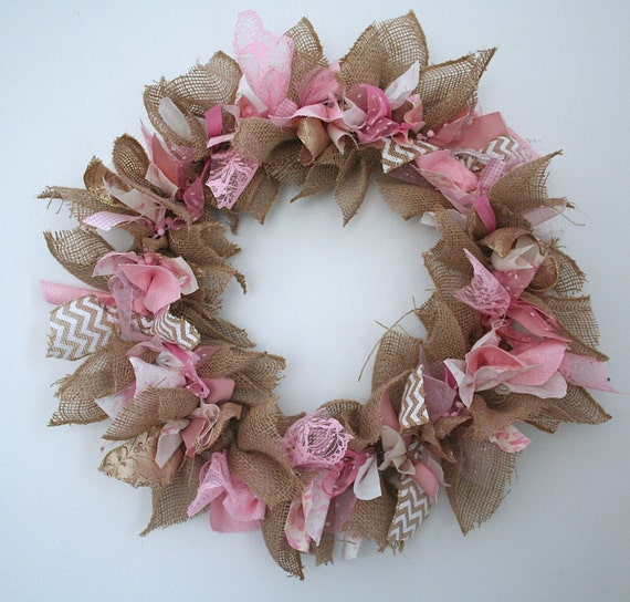 Breast Cancer Awareness Month Wreath Pink Ribbon Wreath Breast Etsy