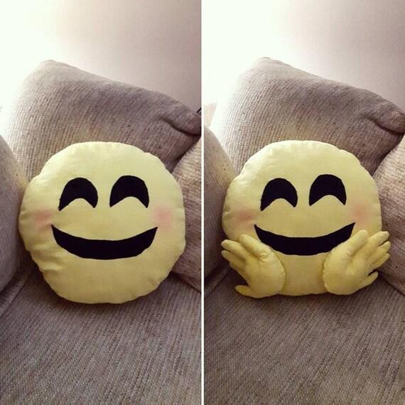 Smiley Face Emoji Pillow Hug Emoji Pillow Etsy