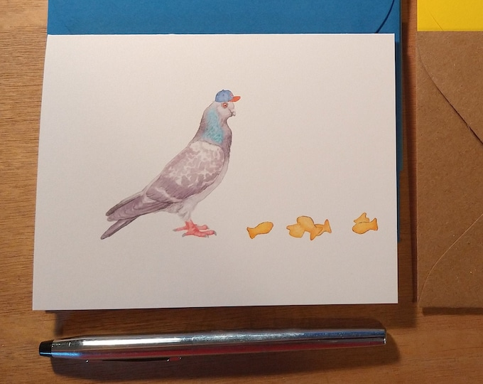 Pigeon, a Chicago Cubs Fan Folded Note Card