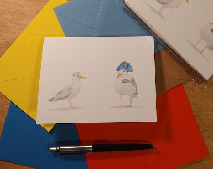 Seagull Sailors Folded Note Card