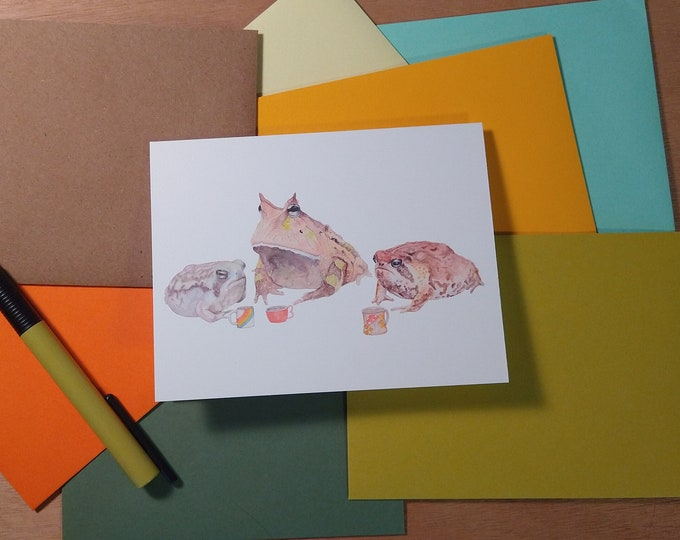 Not Morning Frogs Folded Note 10 Pack