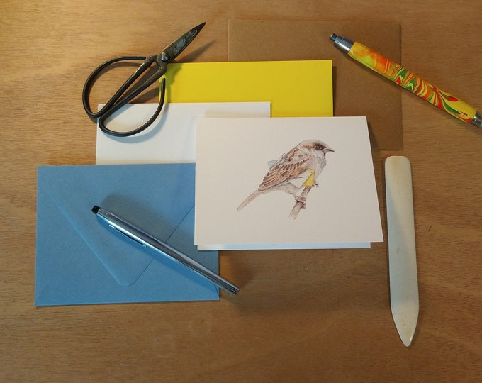 Carrier Sparrow Folded Note Card