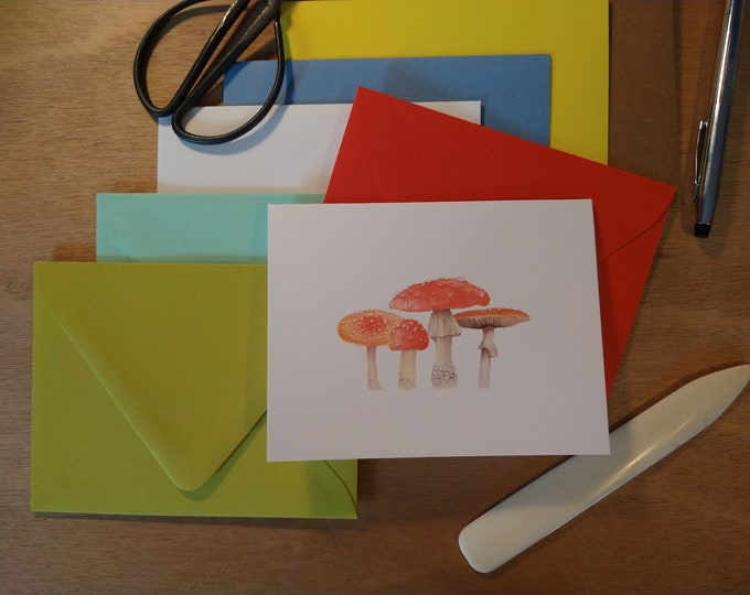 The Toadstool Family Single Folded Note