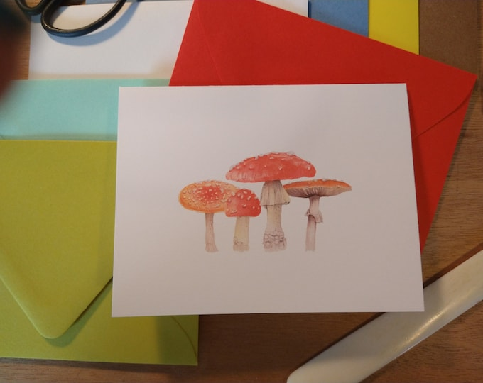 The Toadstool Family Folded Note 10 Pack