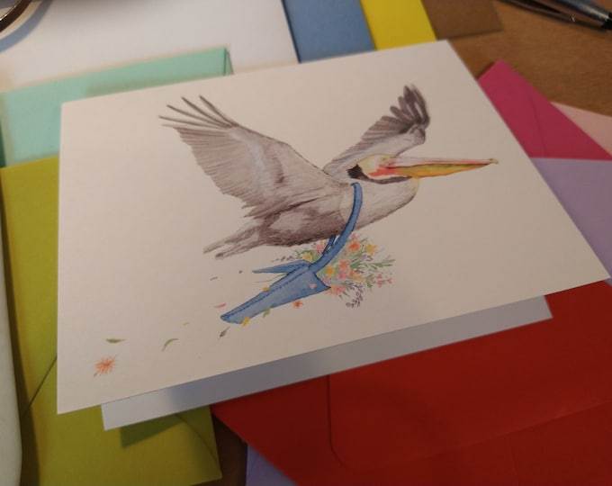 Pelican Floral Delivery Folded Note Card