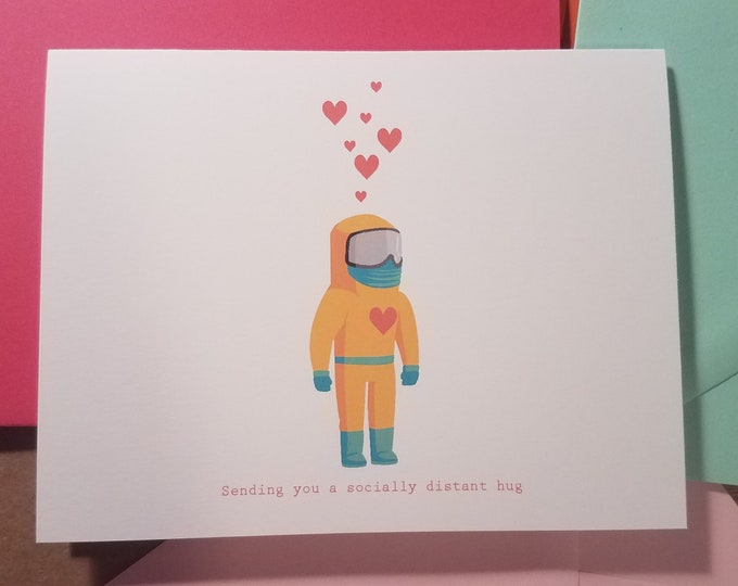 Socially Distant Hug Folded Note 10 Pack