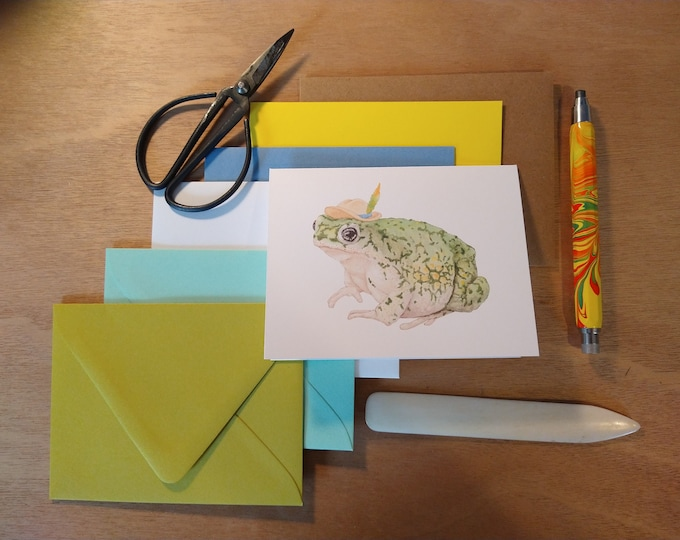 Traveling Toad Folded Note 10 Pack