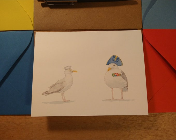 Seagull Sailors Folded Note 10 Pack