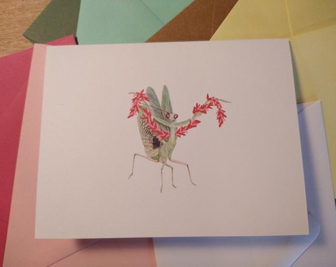 Diva Mantis Folded Note Card