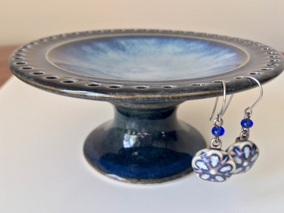 Porcelain Jewelry Bowl, Earring Tree, Ring Dish