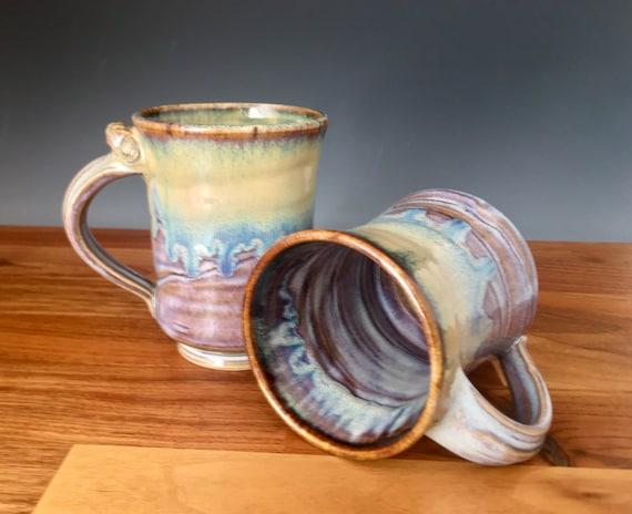 Mug, coffee cup, handmade pottery, porcelain pottery, art melt drip glaze, coffee mug, tea cup use for hot or cold