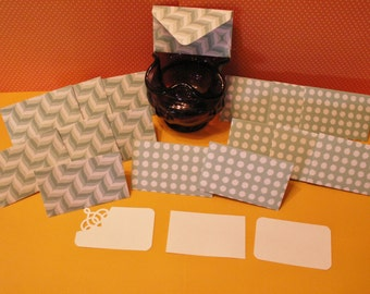 16 green mini note cards for weddings, birthdays, bridal showers, baby showers