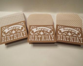 happy birthday card, birthday card, cards, greeting cards, brown birthday cards, note cards