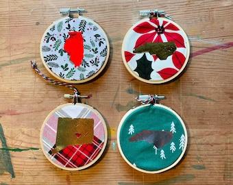 Ornament, Christmas, State Ornament, Holiday, Tree Decor, Christmas Tree, Handmade, Custom Ornament, Unique, CR2F