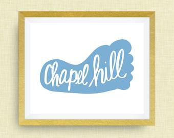 Chapel Hill North Carolina Art Print - Tar Heel