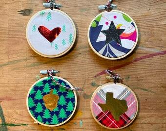 Ornament, Christmas, State Ornament, Holiday, Tree Decor, Christmas Tree, Handmade, Texas, Star Ornament, Unique, CR2F