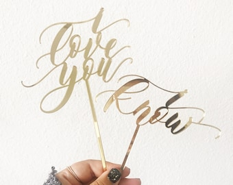 STAR WARS Cake Topper - I Love You I Know - Hand Lettered Design - Letterstou Wedding Cake Topper - Laser Cut - Made From Wood or Acrylic