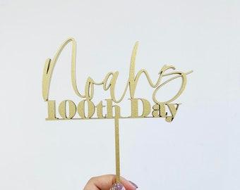 Custom One Hundredth Day -Laser Cut Cake Topper - Korean Birthday - 100th day