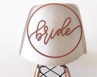 Bride and Groom Wedding Circle Laser Cut Chair Backs