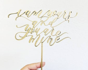 Game of Thrones Cake Topper - I am yours and you are mine - Laser Cut - Made From Wood or Acrylic