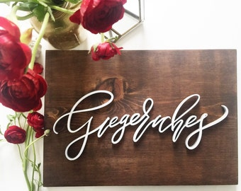 Custom Name Wooden Plank Laser Cut Sign - Letterstou Hand Lettered Design -  Wedding Sign - Family Name Sign - Last Name Sign -Wedding Gift