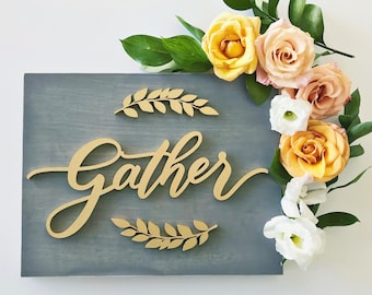 Gather Wood Sign - gather - Letterstou - fall home decor - housewarming gift - Ships anywhere in USA