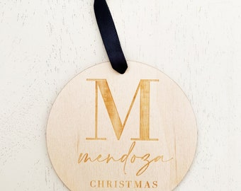 Custom Initial Christmas Ornament - Laser Engraved - Laser Cut - Letterstou Custom Ornament - FREE SHIPPING