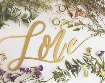 """LOVE Sign - Wedding Sign - Backdrop Sign - Birthday Sign - Laser Cut Wood 37"""" Wide x 18"""" tall - Shipped anywhere in USA"""