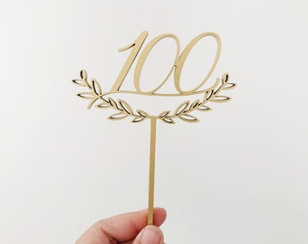 100 Day Laser Cut Cake Topper - Korean 100th Day Celebration - Chinese Red Egg 100 Days