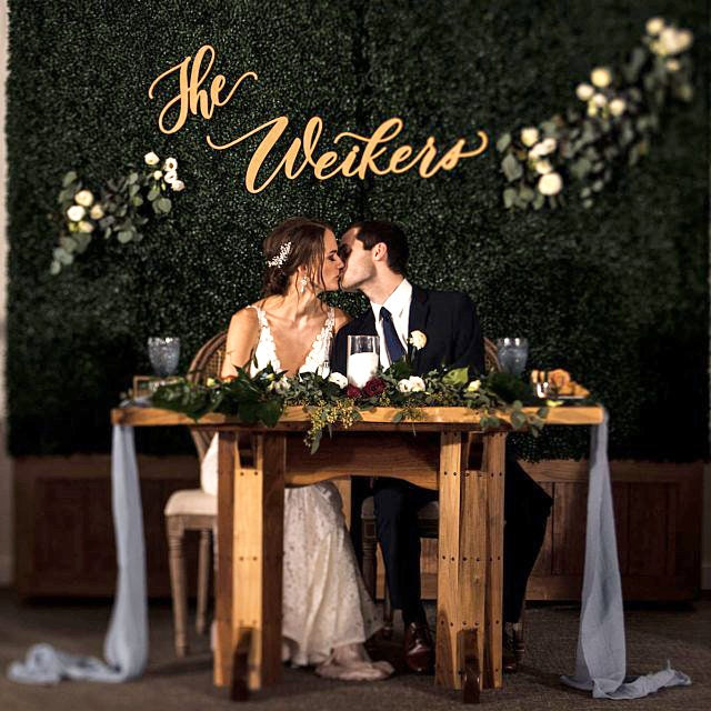 Wedding Backdrop Sign Bride Groom Sign Head Table Sign Letterstou Last Name Sign Personalized Hedge Sign Modern Calligraphy