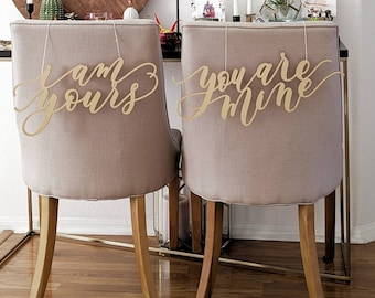 I Am Yours You Are Mine - Game Of Thrones Laser Cut Chair Backs - Hand Drawn Wedding Chair Decoration