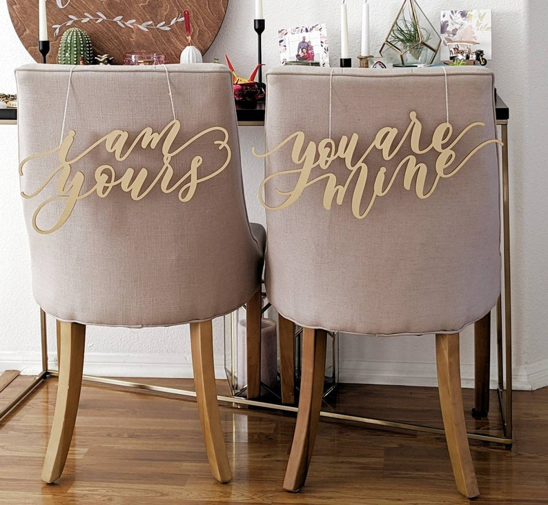 Game Of Thrones Laser Cut Chair Backs I Am Yours You Are Mine Hand Drawn Wedding Chair Decoration