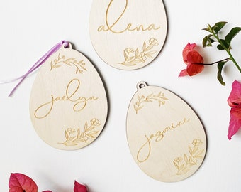 Easter Name Tags - Personalized Custom Name Tags - FREE SHIPPING - Ships Fast
