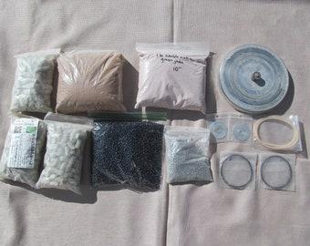 ROCK TUMBLER Parts & Supplies-WHOLESALE Lot-Media Filler Beads Drive Belts Lid