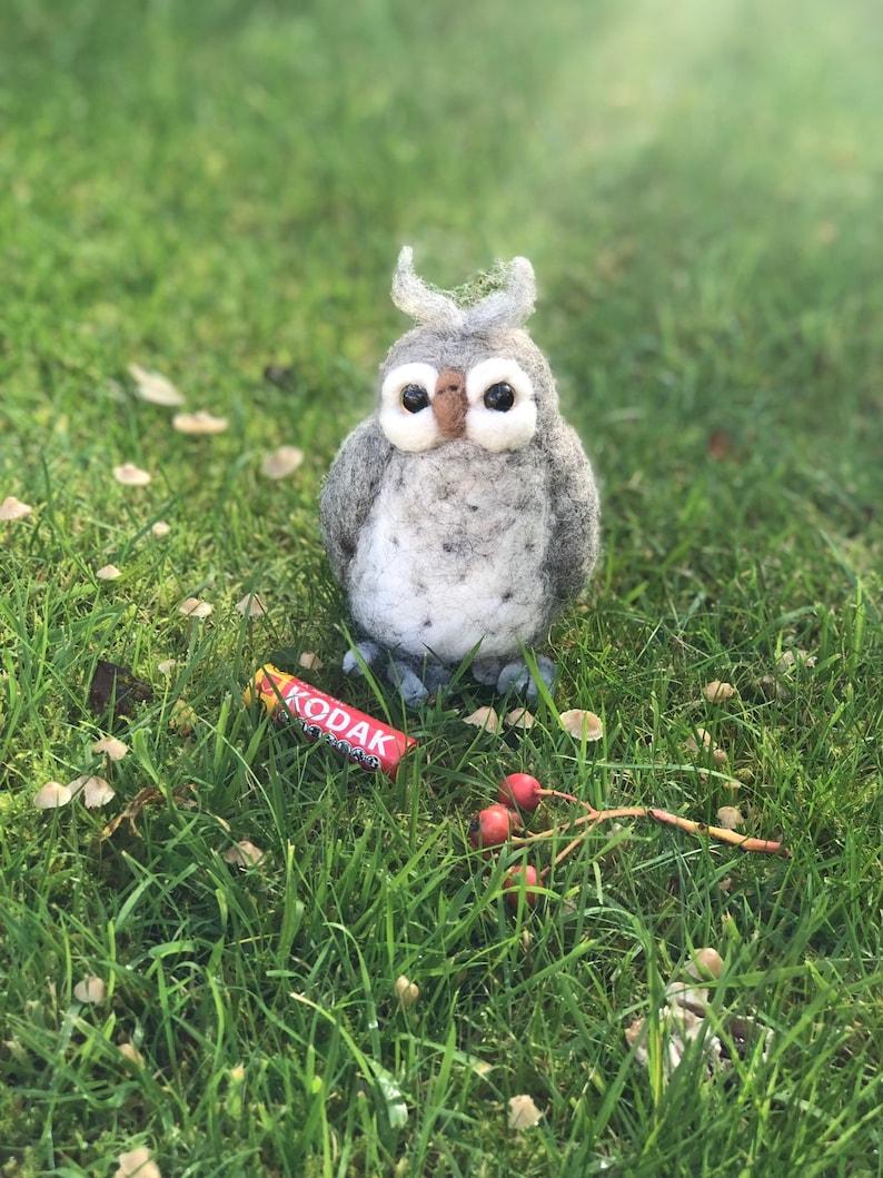 Cute Little needle felted owl.