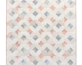 Glitter & Glow Quilt Pattern PDF Download - Best Beginner Quilting Pattern with Instructions for King, Queen, Twin , Throw, and Baby sizes