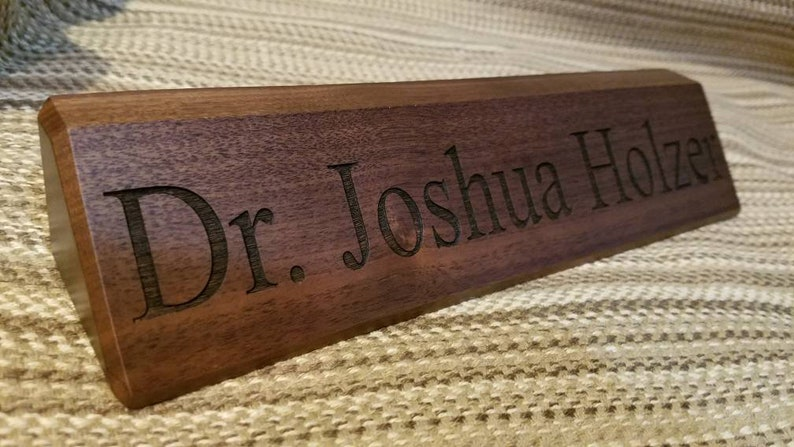Wedge Style Personalized Desk Name Plate   Custom Desk Nameplates    Executive Desk Name Plates   Professionals   Doctors Desk Name Plate