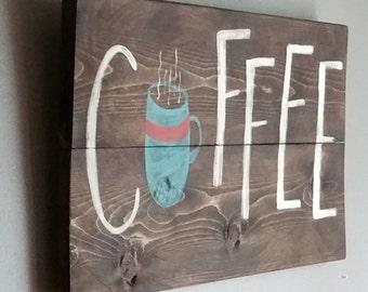 "Reclaimed cedar wood sign.. ""Coffee"".. for the coffee lover, kitchen decor, coffee decor, coffee mug, barista"