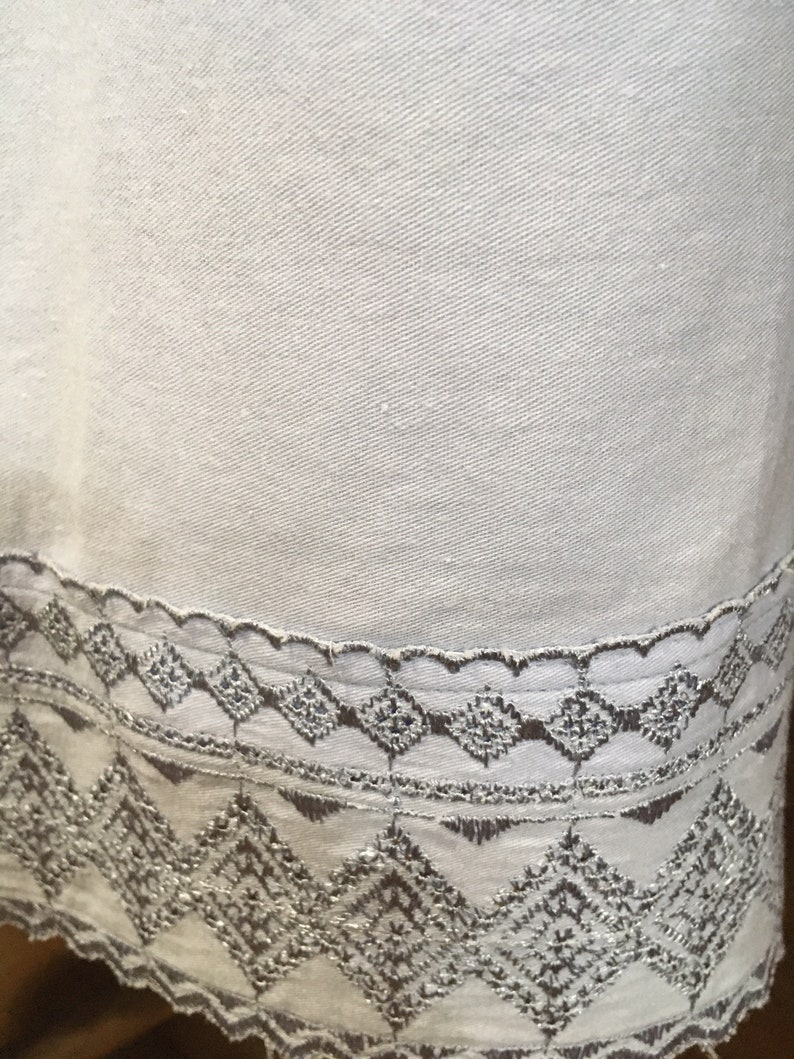 Misses Poet/'s Pajamas Size L in Ever-So-Soft 100/% Cotton with Intricate Laced Edge Hem Adjustable Peasant Neckline /& Bonus Sleep Bonnet!