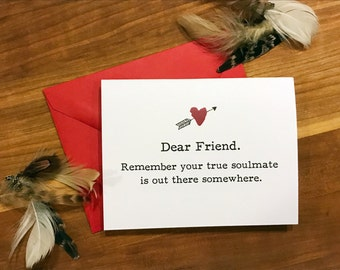 Friends Valentines day card, humorous card, funny valentines day gift, friends valentines day
