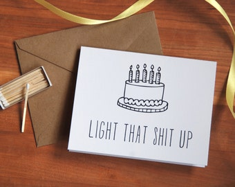 Funny Birthday Card, Happy Birthday Card, 21st birthday card.