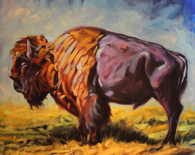 Asleep on the Prairie, Original Acrylic Painting on Canvas, Giclee Print on Paper, or Gallery Wrap Giclee Print on Canvas.