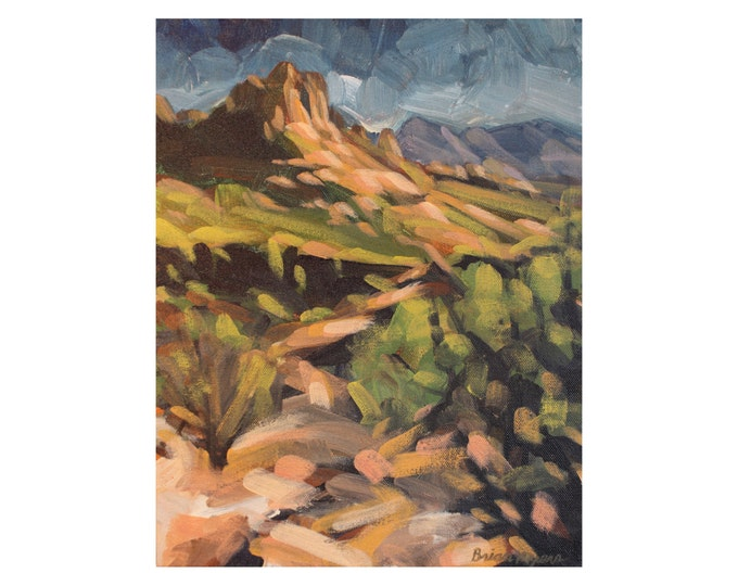 SEDONA TRAIL VIEW, Original Acrylic Painting on Canvas, Giclee Print on Paper, or Gallery Wrap Giclee Print on Canvas.
