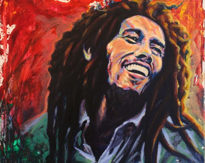 Bob Marley, Giclee Print on Paper, or Gallery Wrap Giclee Print on Canvas.