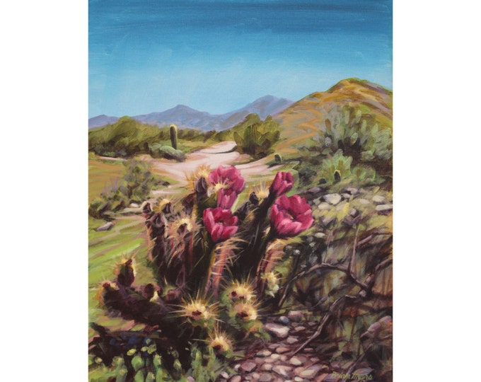 PHOENIX MOUNTAIN PARK, Original Acrylic Painting on Canvas, Giclee Print on Paper, or Gallery Wrap Giclee Print on Canvas.