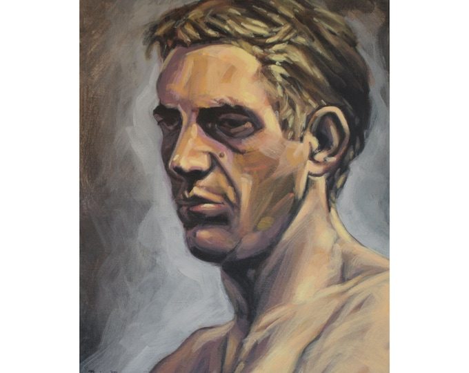 STEVE MCQUEEN, Original Acrylic Painting on Canvas, Giclee Print on Paper, or Gallery Wrap Giclee Print on Canvas.