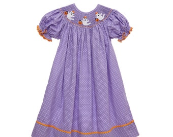 Ghost Smocked Halloween Dress