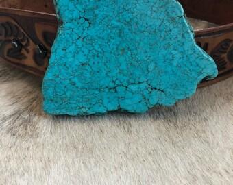 Turquoise Slab Belt Buckle