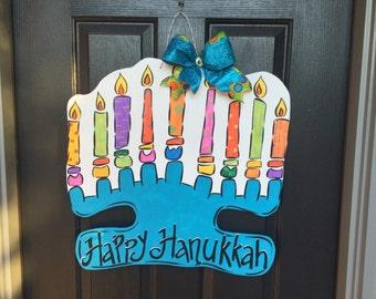Menorah Door Sign