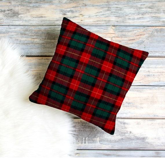 Plaid Christmas Pillows.Christmas Pillows Holiday Pillows Plaid Pillows Plaid Flannel Pillows Decorative Pillows Red Throw Pillows Plaid Christmas Decor